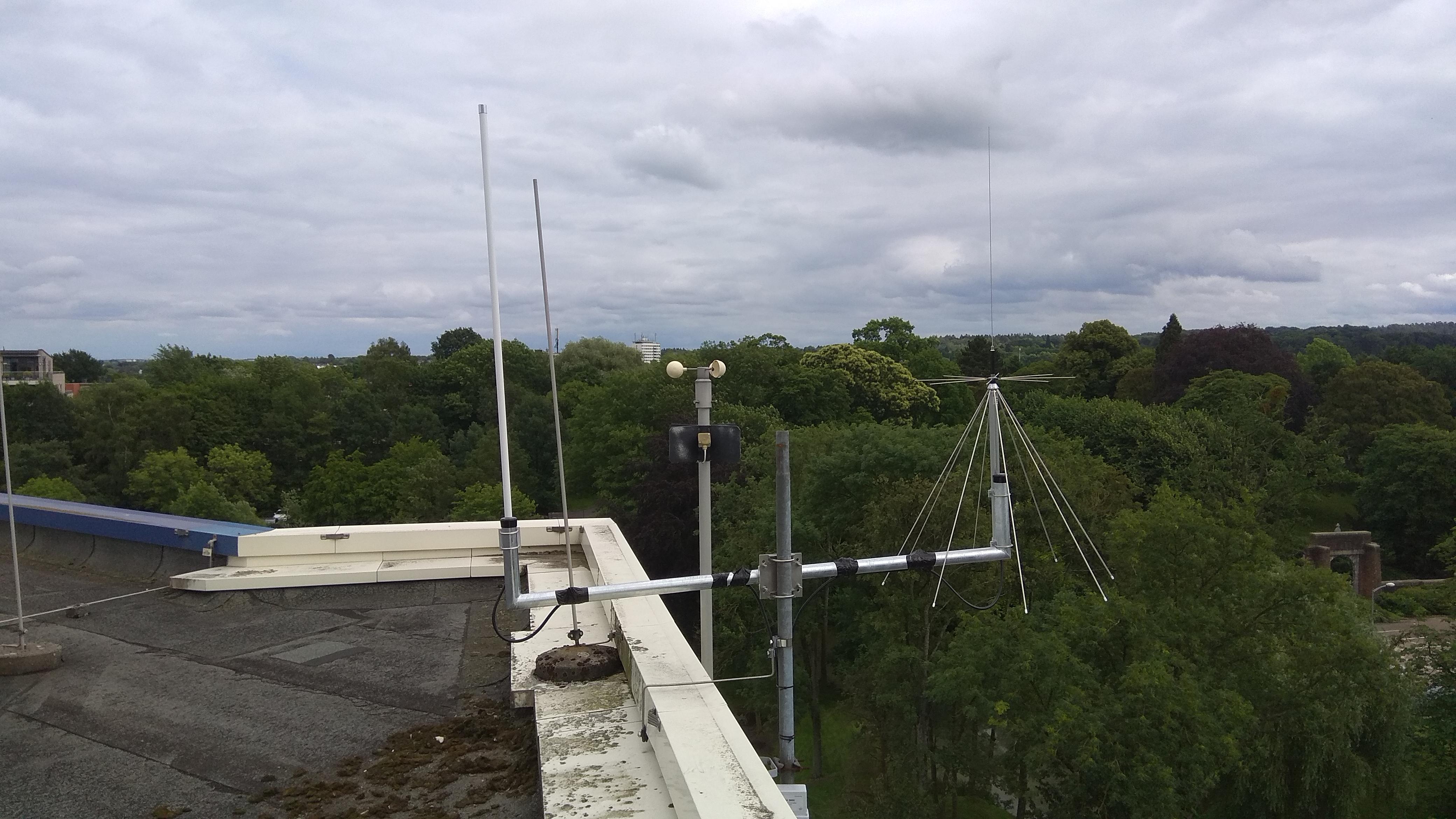 Antenna installation on Roof